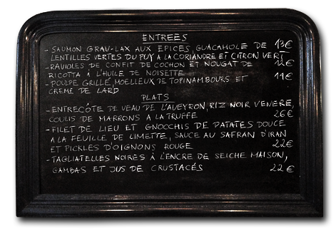 image entrées and main course blackboard menu 02